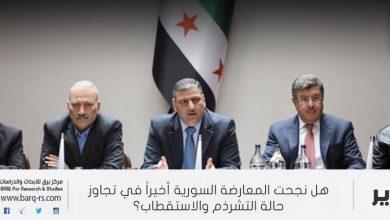 Photo of هل نجحت المعارضة السورية أخيراً في تجاوز حالة التشرذم والاستقطاب!؟