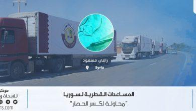 Photo of المساعدات القطرية لسوريا (محاولة لكسر الحصار)