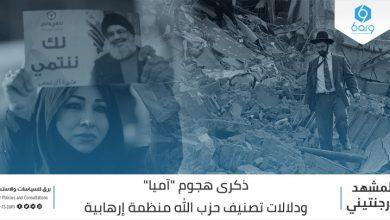 "Photo of ذكرى هجوم ""آميا"" ودلالات تصنيف حزب الله منظمة إرهابية"
