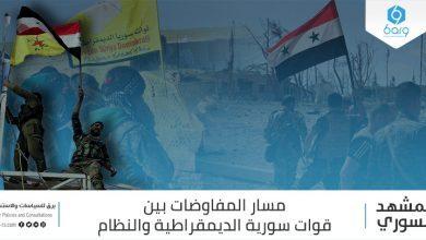 Photo of مسار المفاوضات بين قوات سورية الديمقراطية والنِّظام السُّوري